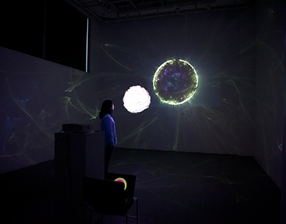 "Light Projection--""Virtual Cosmos"""