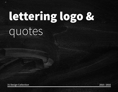 31 Lettering Logo & Quotes.