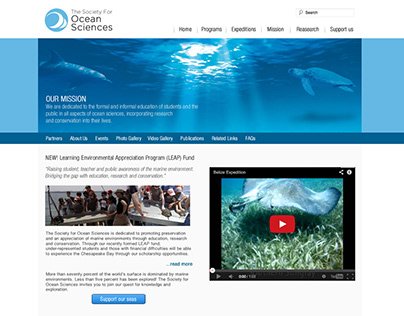 The Society For Ocean Sciences