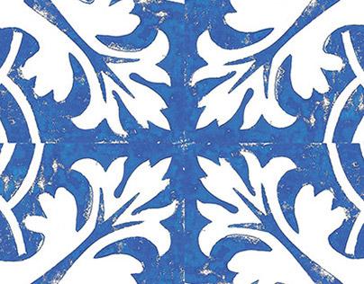 Linocut Azulejos
