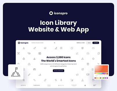 Iconspro - Icon Library Website and Web App