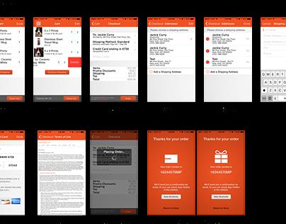 Shutterfly iPhone  Cart & Checkout (2014)