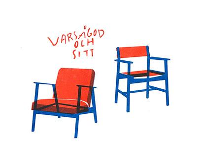Risographic print - Varsågod och sitt