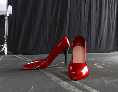 Red High-Heel Shoes - Fashion design