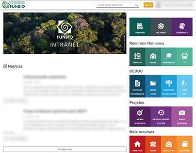 Nova UI/UX da intranet do FUNBIO