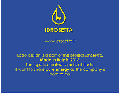 IDROSETTA - Pure Energy- Logo Design Made in Italy