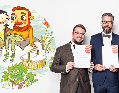 "Reddot Award 2018 for my ""Wine Characters"""