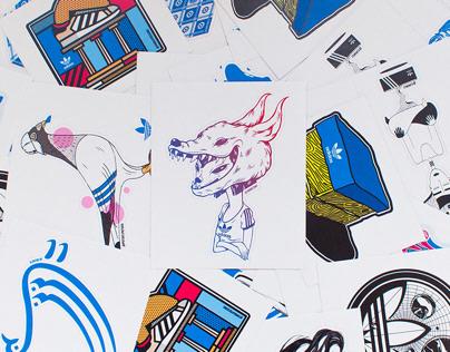 Sticker Design for 'Athens Adidas Originals'