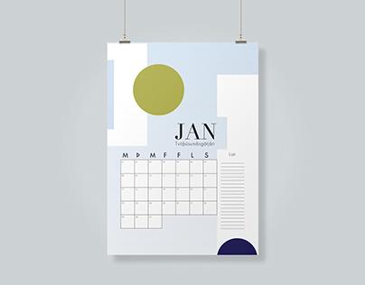Organizing calendar 2018