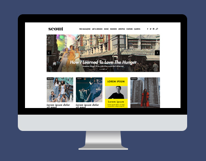 WEB DESIGN: Scoutmag.ph
