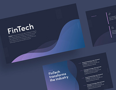 Unused design for a FinTech startup