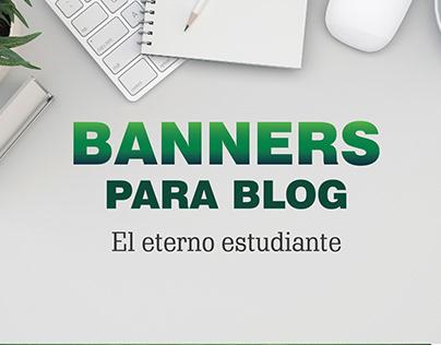 Banners para BLOG - El eterno estudiante