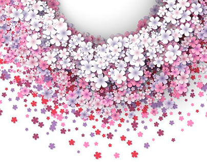 Designs with small pink flowers
