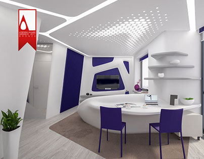 """Interior of a small apartment """"Crystal Violet"""""""