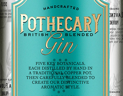 Pothecary Gin Identity and Packaging