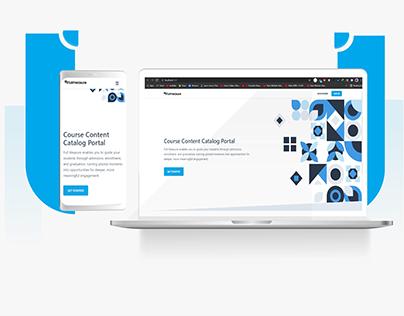 Course Content Catalog Portal Website