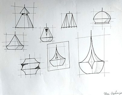 Drawing: Designs of Lamps