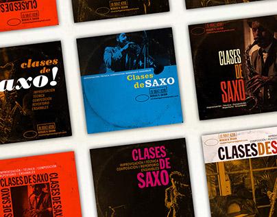 Flyers Clases de Saxo Nicolás H. Galván