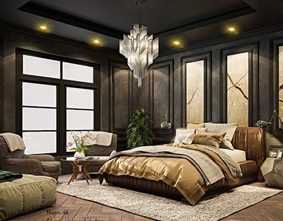Black bedroom design (Workshop)
