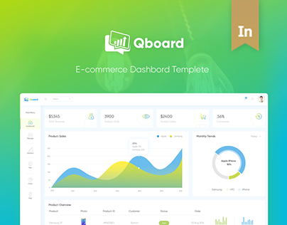 Qboard E-commerce Dashboard