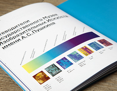 Guide book concept of the Pushkin State Museum of Fine