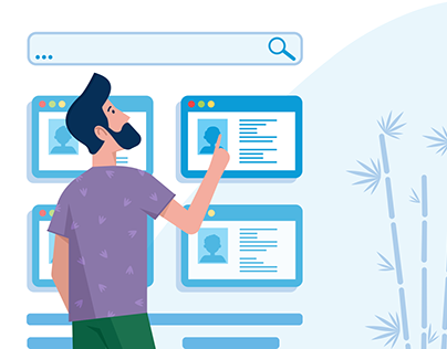 Rabix.ru - illustrations and web page design