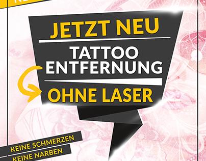 Tattooflyer for Beautystudio