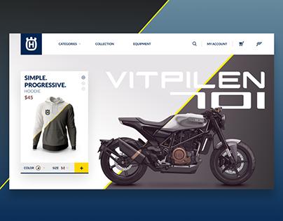 Husqvarna Vitpilen 701 merchandise - UX Concept