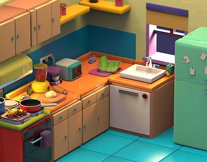 Kitchen 3D Modelling