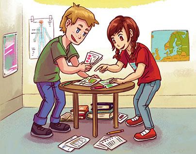 3rd Grade Textbook & Workbook Cover Art & Illustrations