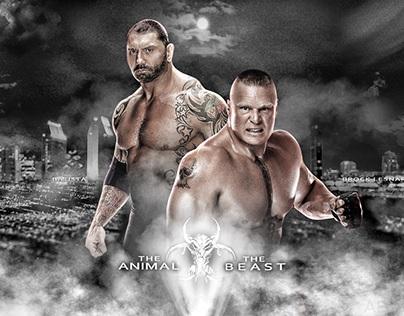 Batista and Brock lesnar new wallpaper by ABatista93