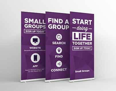 Small Groups Retractable (Roll-Up) Banner Design