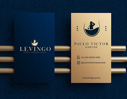 Logo Identidade Visual: LEVINGO - Vinho, Charuto, Golfe