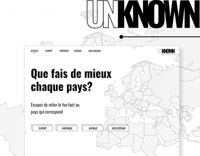 UNKNOWN - Countries's fun fact quiz interface
