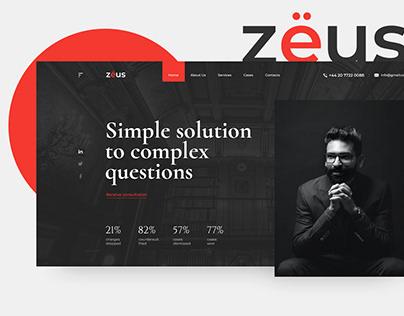 ZEUS Law Firm | Website concept