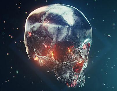 iron skull (wallpaper)