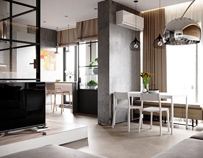 white concrete apartment
