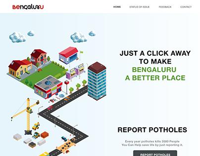 Website design for solving infrastructure problems