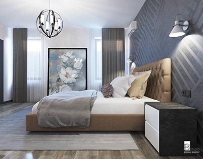 ЖИЛОЙ ДОМ 236,1 м² / Спальня / Современный стиль