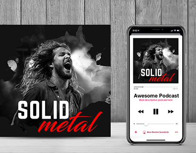 Music Podcast Free PSD Design
