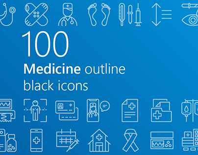 Medicine outline iconset