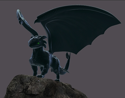 Toothless Inspired Night Fury