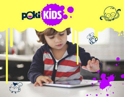 Poki Kids, games website | branding, product design, ux