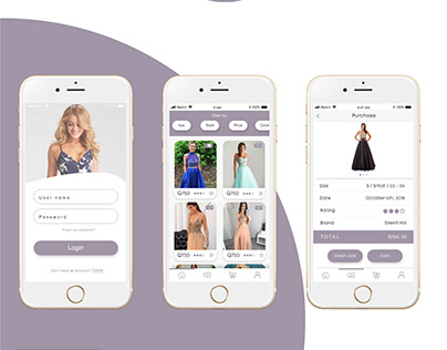Rent a Dress On Line - Project App