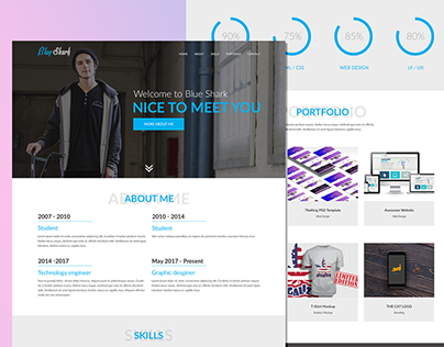 BlueShark: Free PSD Portfolio Template