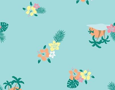 Flower design pattern