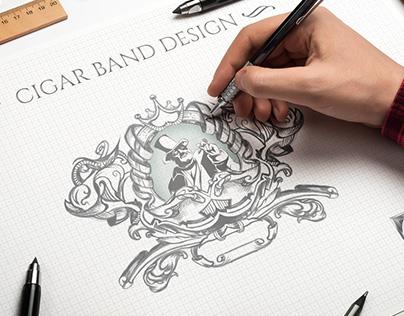 Cigar Band Crest Concept Design
