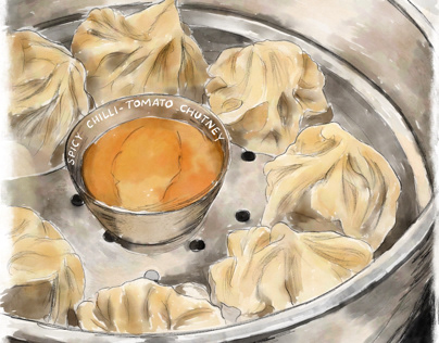 Momos - dumplings from Nepal
