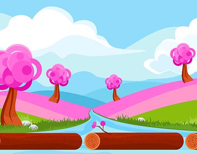 Pink Spring Game Background