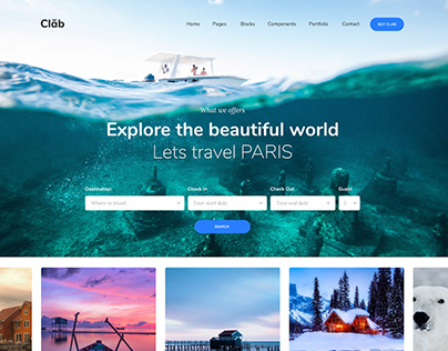 Clab Travel Agency website